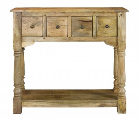 Rustic Console Table (waxed finish)
